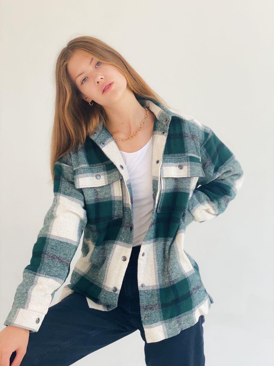 клетчатое пальто рубашка